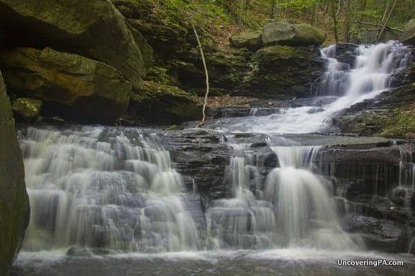 Miners Run Waterfalls in McIntyre Wild Area PA