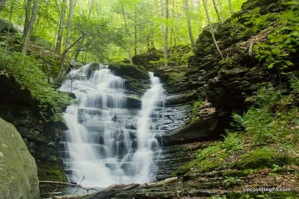 Miners Run Waterfalls Mcintyre Wild Area Pennsylvania