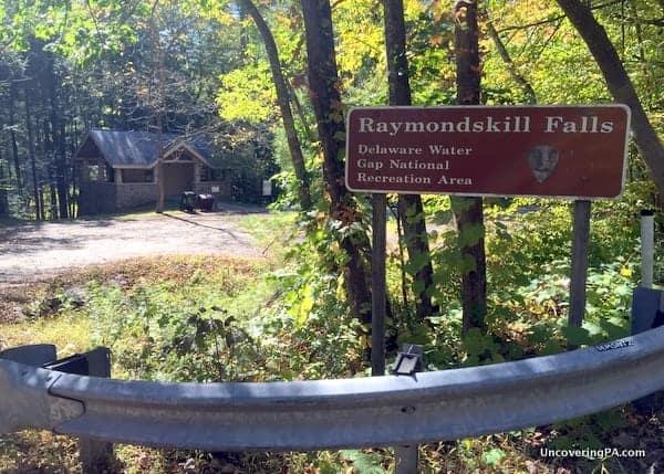 Parking area Raymondskill Falls PA