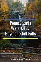 Raymondskill Falls in the Delaware National Water Gap