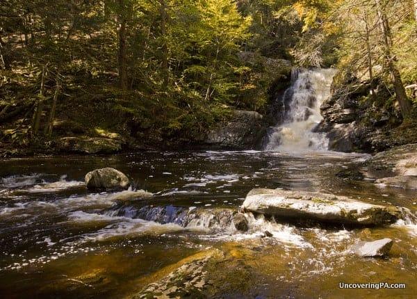 Waterfalls upstream of Raymondskill Falls