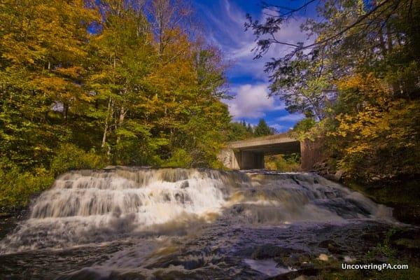 Uppermost Raymondskill Falls on Raymondskill Creek Delaware Water Gap PA