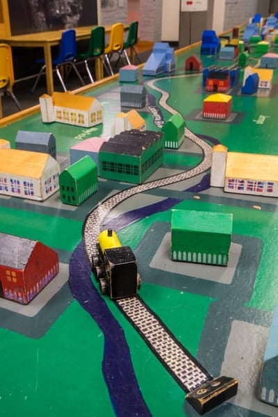 Children's activities at the Electric City Trolley Museum in Scranton, PA