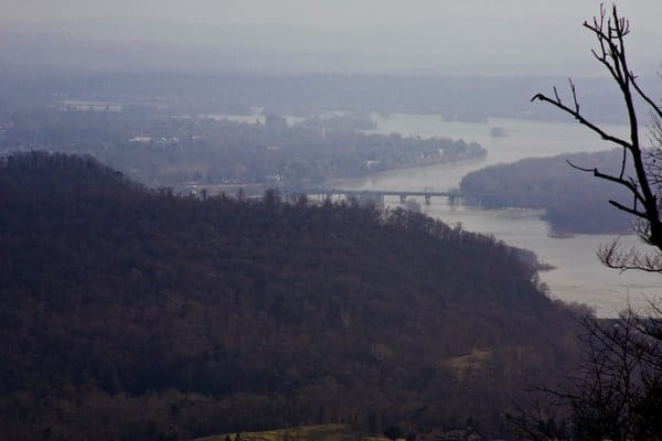 View of Harrisburg from Fort Hunter Conservancy.