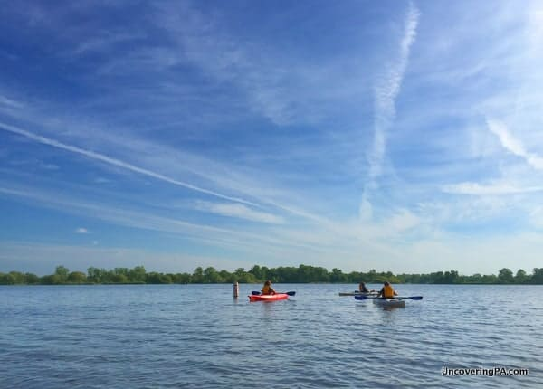 Kayaking in Presque Isle State Park, Erie, PA