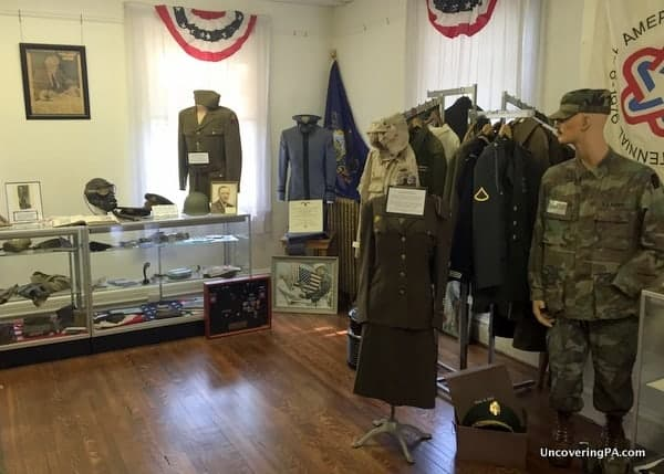 Military items Armstrong County Historical Museum Pennsylvania