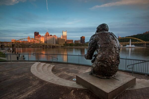The Mister Rogers Statue is a great spot for kids to visit in Pittsburgh