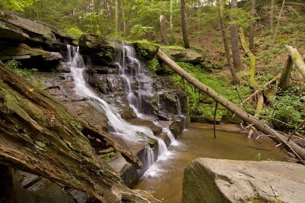 Osterhout Falls in Tunkhannock, Pennsylvania.