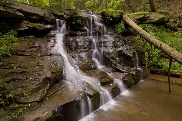 Osterhout Falls in Wyoming County, Pennsylvania.