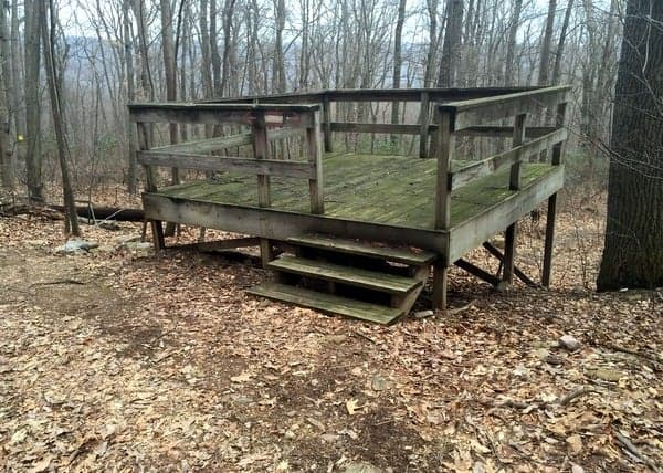 Platform in Fort Hunter Conservancy, Harrisburg, Pennsylvania
