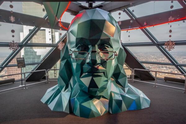 Benjamin Franklin at One Liberty Observation Deck in Philadelphia