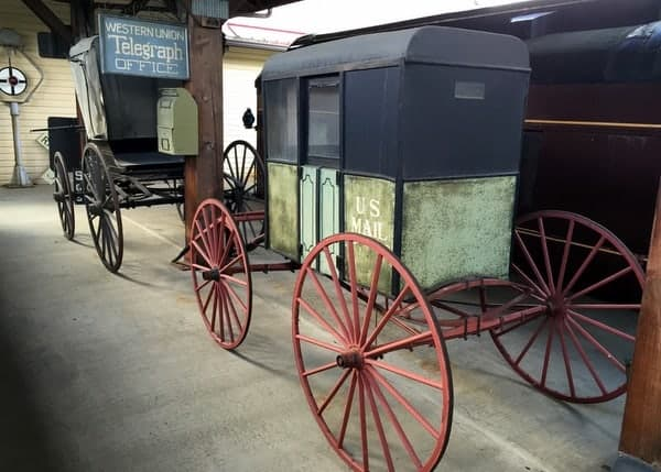 Buggies at the Harlansburg Station Museum in Lawrence County, PA