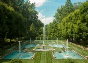 Italian Fountains at Longwood Gardens in Kennett Square, PA