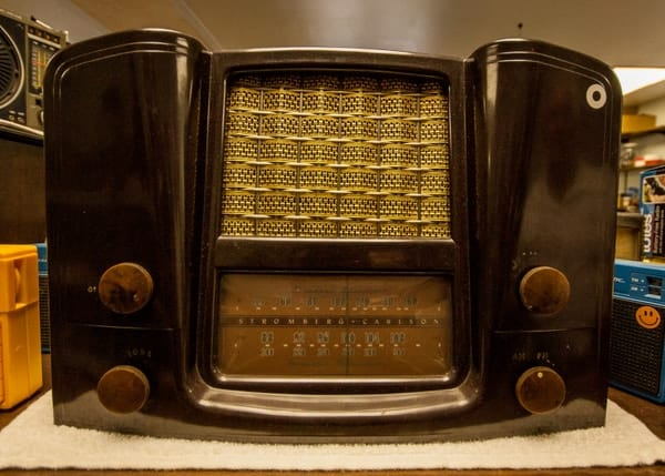 An antique radio at Check's Radio Museum in Karns City, Pennsylvania.