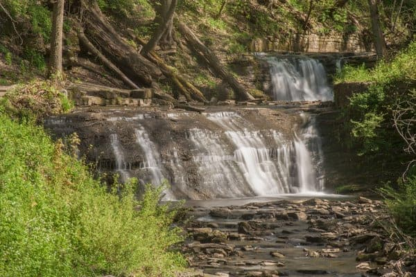Twin Waterfalls in Connellsville, PA