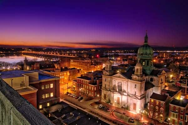 UncoveringPA's Top Pennsylvania Travel Photos of 2015: Downtown Harrisburg at Sunset