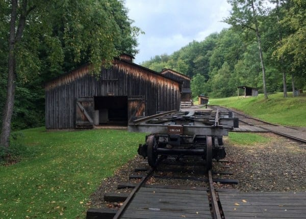 Part of the replica logging camp at the Pennsylvania Lumber Museum in Potter County, PA
