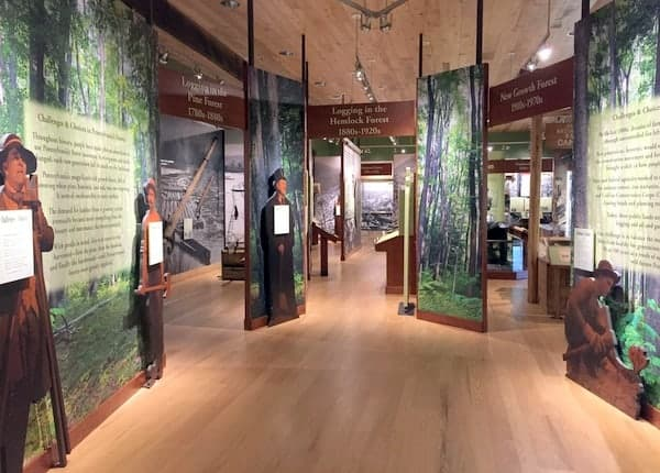 Newly redesigned Pennsylvania Lumber Museum near Coudersport, PA