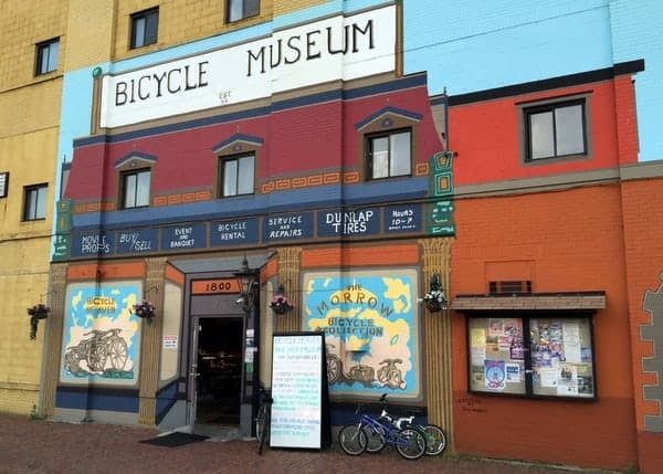 Mural outside of Bicycle Heaven in Pittsburgh, Pennsylvania