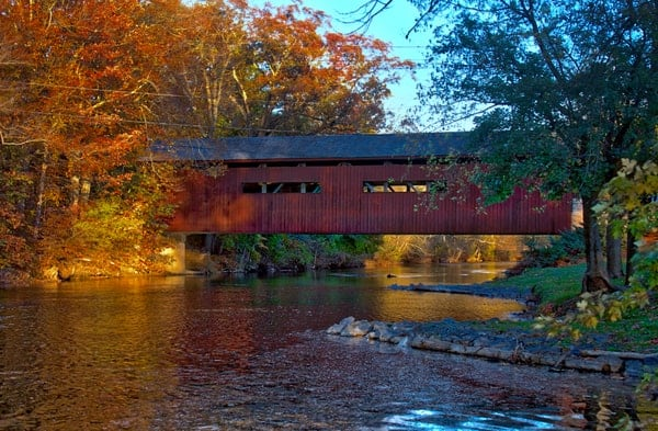 Bowmansdale Covered Bridge in Mechanicsburg, Pennsylvania