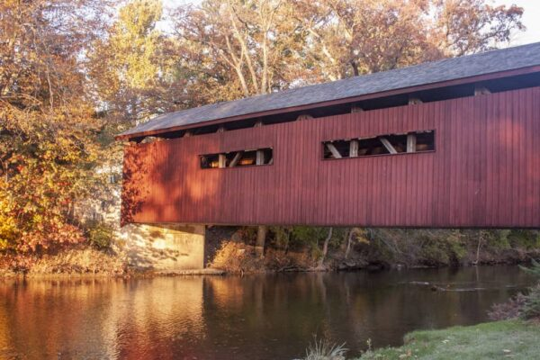 Bowmansdale Covered Bridge on the Messiah College campus