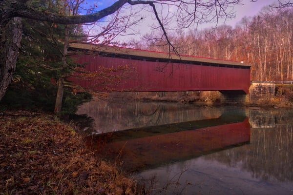 Visiting McGee's Mill Covered Bridge in Clearfield County, Pennsylvania.