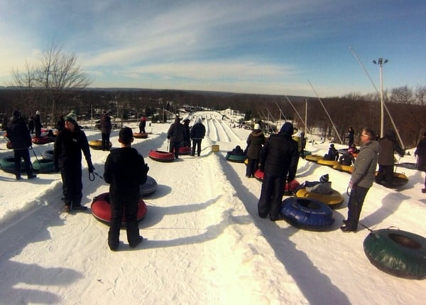 Snow Tubing at Jack Frost Ski Resort in the Poconos.