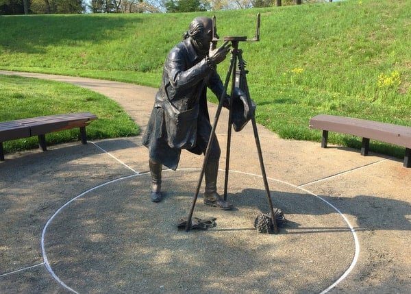 Albert Gallatin Statue at Friendship Hill National Historic Site in the Pennsylvania Laurel Highlands