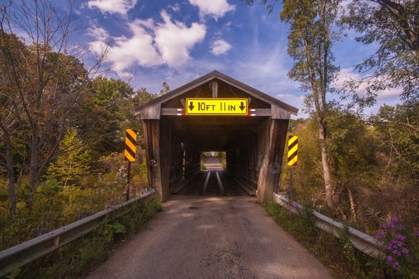 Harrington Covered Bridge is in great shape, especially when compared to Waterford Covered Bridge.