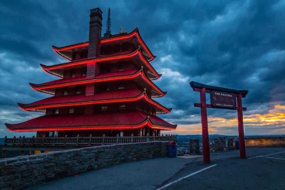 Visiting the Reading Pagoda in Reading, Pennsylvania