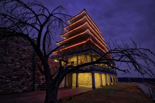 How to get to the Reading Pagoda in Reading, Pennsylvania