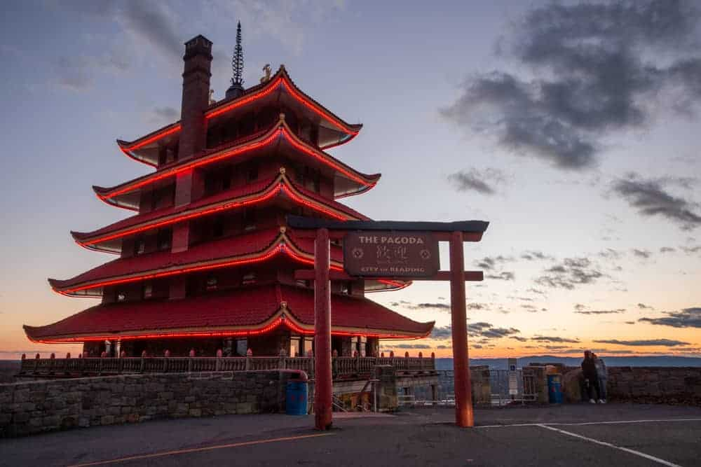 Visiting the Reading Pagoda in PA