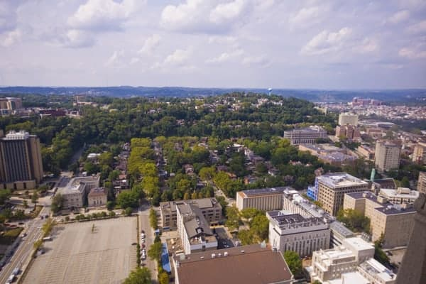 Free things to do in Pittsburgh: Get a view from the Cathedral of Learning.