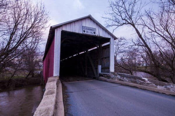 Bitzer's Covered Bridge in Ephrata, Pennsylvania.