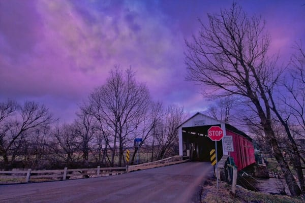 Bitzer's Mill Covered Bridge in Lancaster County, PA