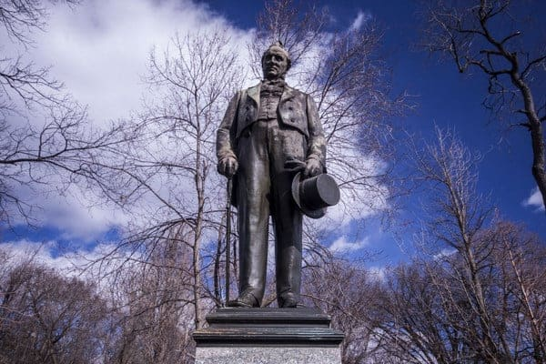 James Buchanan Statue in Lancaster, Pennsylvania