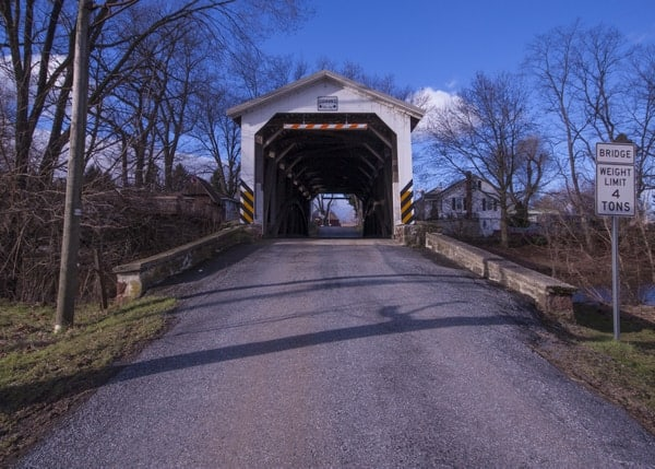 Bucher's Mill Covered Bridge in Lancaster County, PA