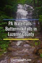 Buttermilk Falls in Luzerne County
