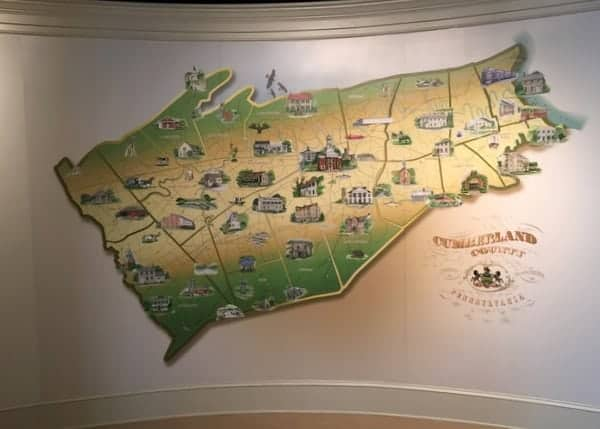 Cumberland County, PA map at the Cumberland County Historical Society Museum