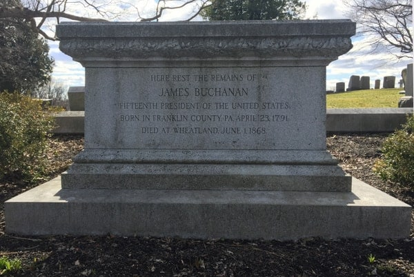 President James Buchanan's grave in Lancaster, Pennsylvania