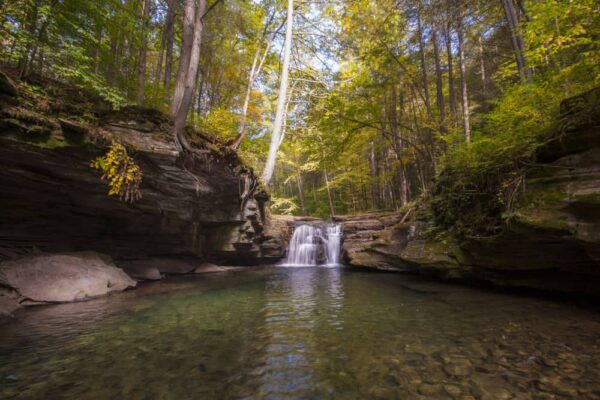 How to get to Mill Creek Falls in Loyalsock State Forest of Sullivan County, Pennsylvania