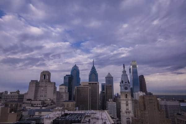 View from the Loews Hotel in Philadelphia, Pennsylvania