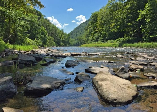 Where is the source of Pennsylvania's Pine Creek?
