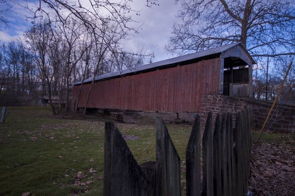 Red Run Covered Bridge in Lancaster County, Pennsylvania
