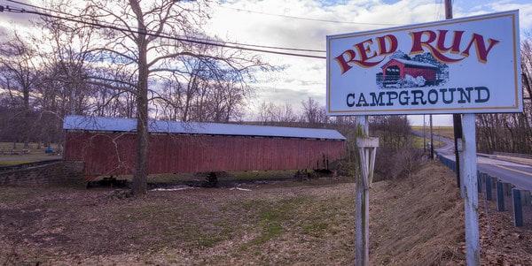 Red Run Covered Bridge at Red Run Campground