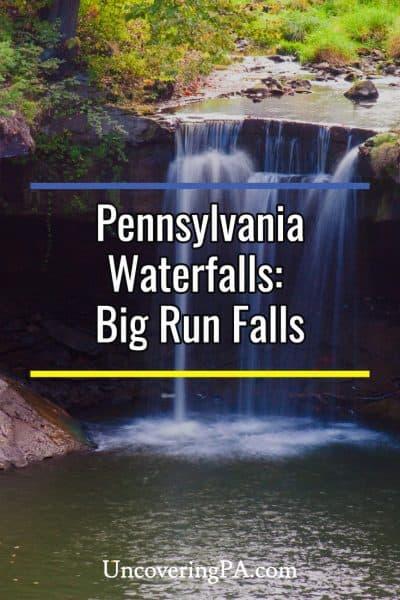 Big Run waterfalls in Cascade Park