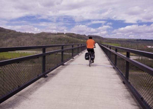 Crossing the Salisbury Viaduct outside of Myersdale, Pennsylvania