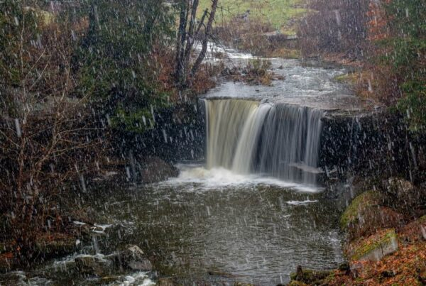 Big Run Falls in Cascade Park in New Castle, PA