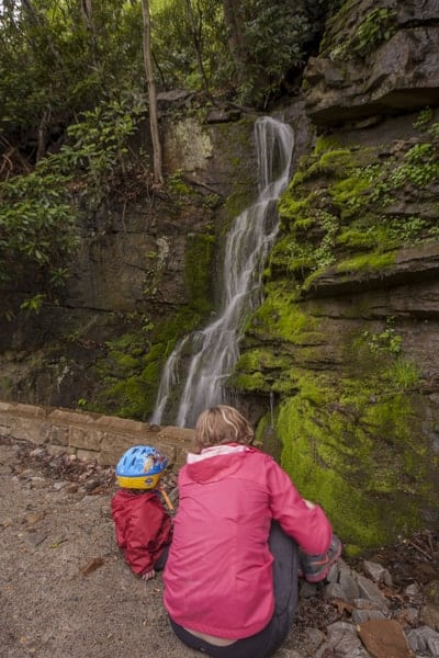 Waterfalls on the Great Allegheny Passage near Connellsville, PA
