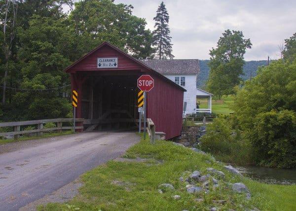 Logan Mills Covered Bridge in Clinton County, Pennsylvania